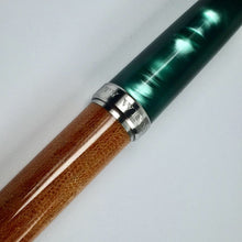 Load image into Gallery viewer, Titanium Green Italian Acrylic and Micarta Fountain Pen