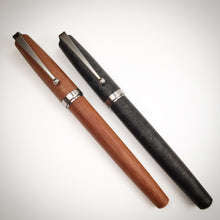 Load image into Gallery viewer, Linen Micarta Fountain Pen with Titanium Hardware and Waterfall Clip