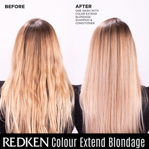 Before & After With Redken Blondage
