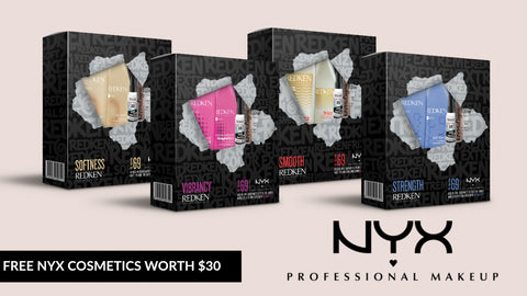 Redken X NYX Cosmetics Packs
