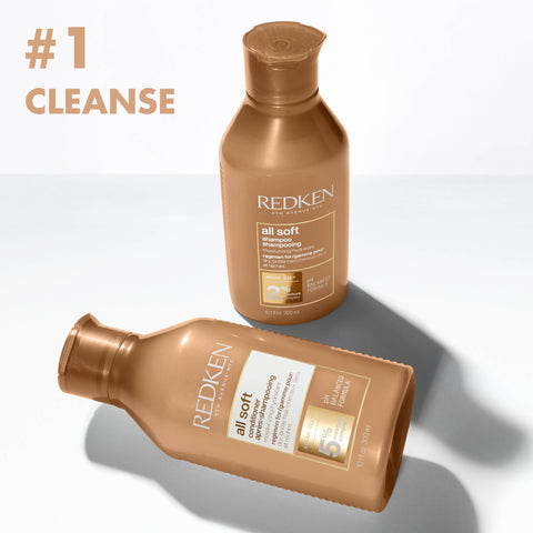 Step 1 Cleanse With Redken All Soft