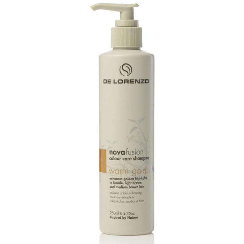 De Lorenzo Novafusion Warm Gold Shampoo 250ml - Headstart