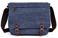 Canvas Messenger Bag - Medium