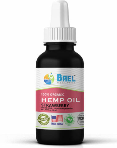 Hemp Oil (Strawberry) 500 mg. Naturally relieves pain, inflammation.