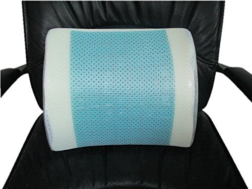 Bael Wellness Lumbar Support Back Cushion & Pillow. Gel Enhanced Memory Foam with Mesh Cover