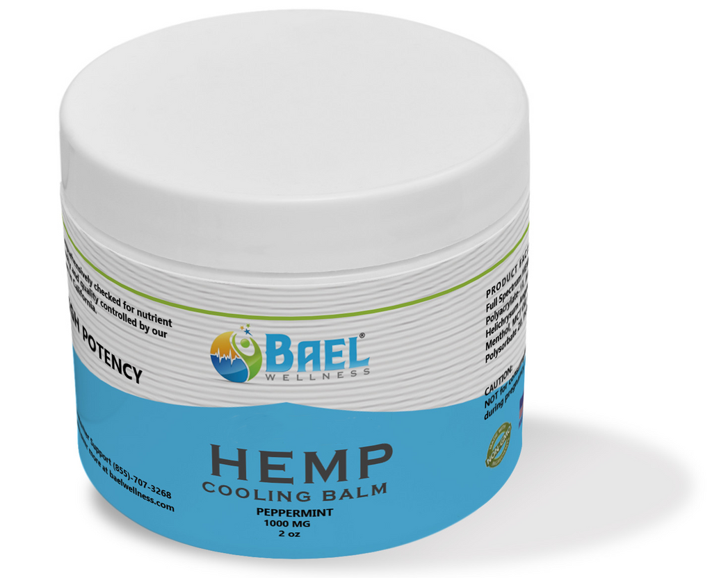 Premium hemp seed infused soothing balm, 2 oz, 1000 mg.