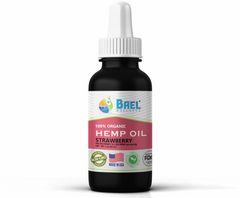 Hemp Oil (Strawberry) 500 mg. Naturally relieves pain, inflammation. Vegan & organic.