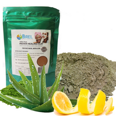Bael Wellness Clay Mask (Pack of 2), Bentonite/Aloe Vera/Lemon Peel Powder