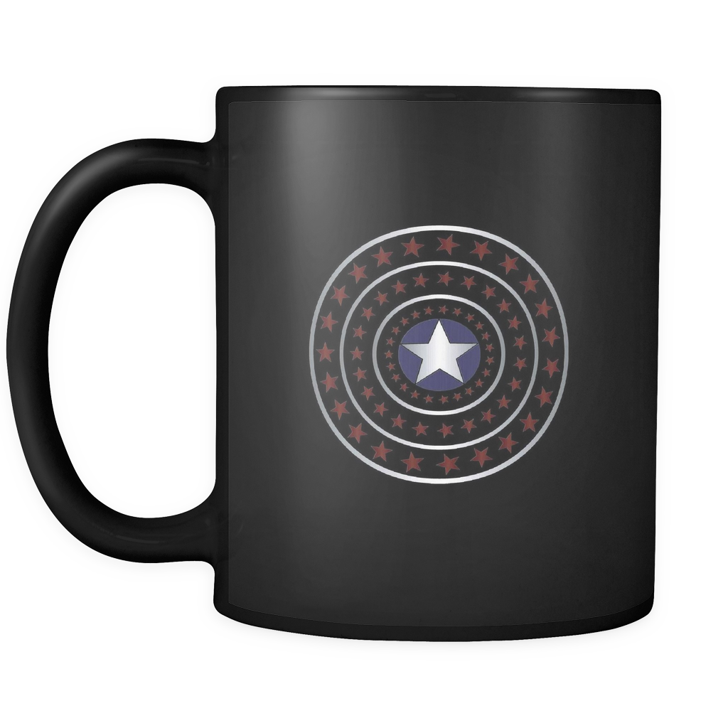 teelaunch 11oz Black Mug 4th July 4th July Stars Coffee Tea Mug  Black 11oz
