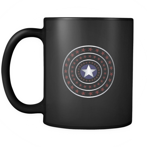 Image of teelaunch 11oz Black Mug 4th July 4th July Stars Coffee Tea Mug  Black 11oz
