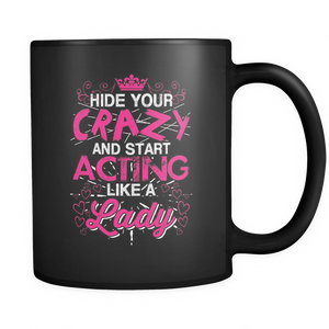 teelaunch 11oz Black Mug Actlikelady(Black) Act Like Lady  Coffee Tea Mug Black 11 oz
