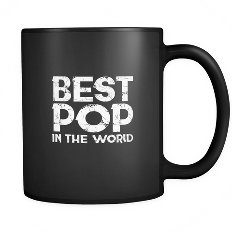 Image of teelaunch 11oz Black Mug Bestpop(Black) Best Pop In The World  Coffee Tea Mug Black 11 oz