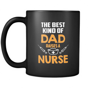 Dad Nurse Coffee Tea Mug Black 11 oz