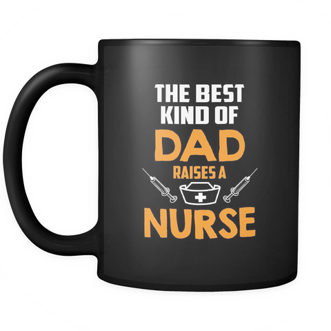 teelaunch 11oz Black Mug Dadnurse(Black) Dad Nurse Coffee Tea Mug Black 11 oz