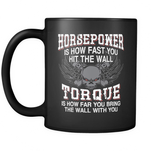 Horsepower Torque Coffee Tea Mug Black 11 oz