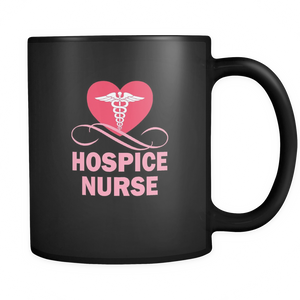 teelaunch 11oz Black Mug Hospicenurse(Black) Hospice Nurse Coffee Tea Mug Black 11 oz