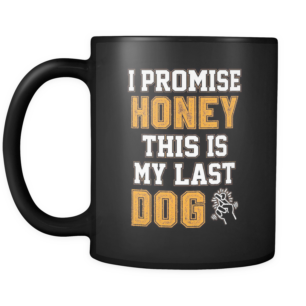 teelaunch 11oz Black Mug LastDog(Black) Last Dog Coffee Tea Mug Black 11 oz