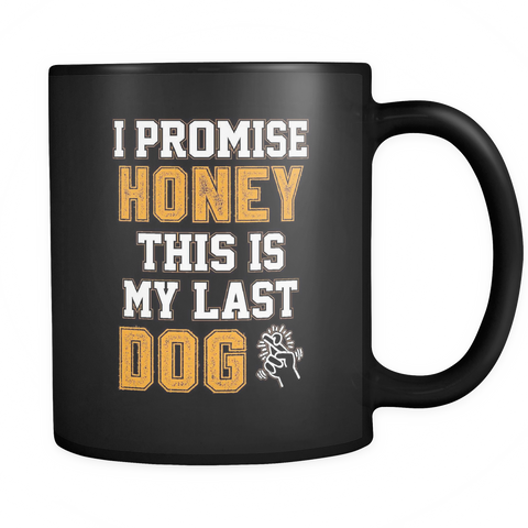 Image of teelaunch 11oz Black Mug LastDog(Black) Last Dog Coffee Tea Mug Black 11 oz