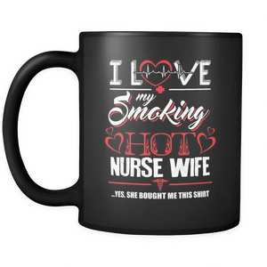 Love My Nurse Wife  Coffee Tea Mug Black 11 oz
