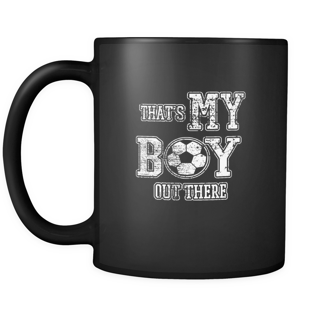 teelaunch 11oz Black Mug Myboyoutthere(Black) My Boy Out There Coffee Tea Mug Black 11 oz