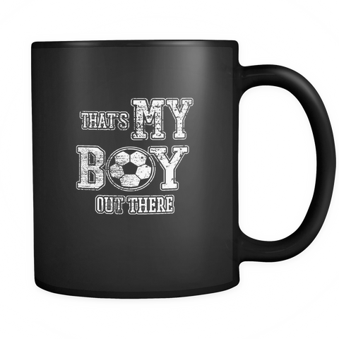 Image of teelaunch 11oz Black Mug Myboyoutthere(Black) My Boy Out There Coffee Tea Mug Black 11 oz