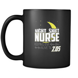 Night Shift Nurse  Coffee Tea Mug Black 11 oz