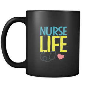 Nurse Life Coffee Tea Mug Black 11 oz