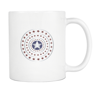 4th July Stars Coffee Tea Mug White 11 oz