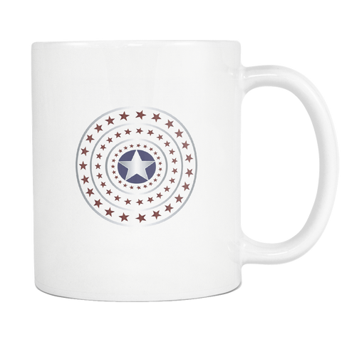 teelaunch 11oz White Mug 4thhuly 4th July Stars Coffee Tea Mug White 11 oz