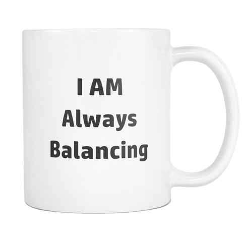 teelaunch 11oz White Mug Always Balancing Accountant Always Balancing Coffee Tea Mug White 11 oz