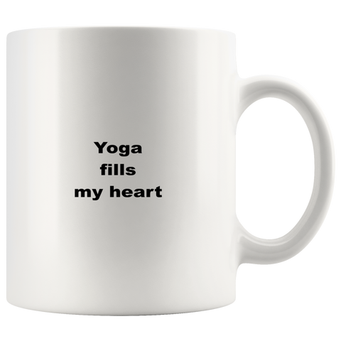 Image of teelaunch 11oz White Mug aqfwwqw Yoga Coffee Tea Mug White 11 oz