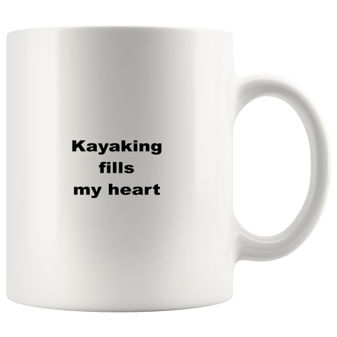 Image of teelaunch 11oz White Mug asfw Kayaking Coffee Tea Mug White 11 oz