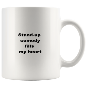 teelaunch 11oz White Mug asfw Stand-up Comedy Coffee Tea Mug White 11 oz
