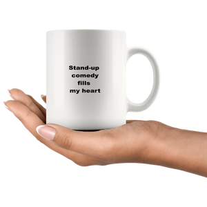 Stand-up Comedy Coffee Tea Mug White 11 oz