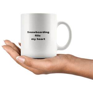 Snowboarding Coffee Tea Mug White 11 oz