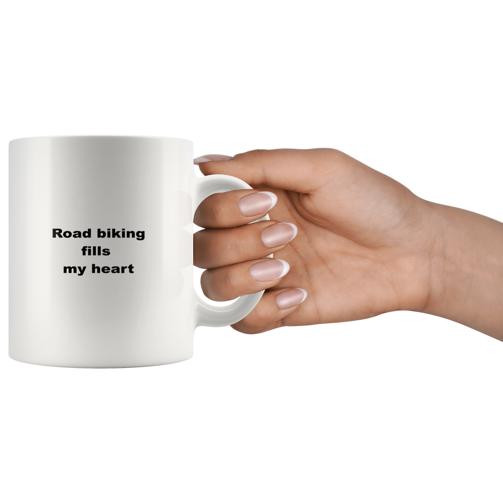 teelaunch 11oz White Mug awfw Road Biking Coffee Tea Mug White 11 oz