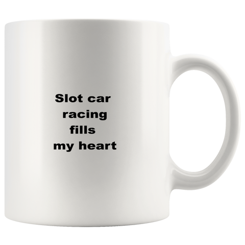teelaunch 11oz White Mug awfw Slot Car Racing Coffee Tea Mug White 11 oz