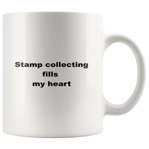 teelaunch 11oz White Mug awfw Stamp Collecting Coffee Tea Mug White 11 oz