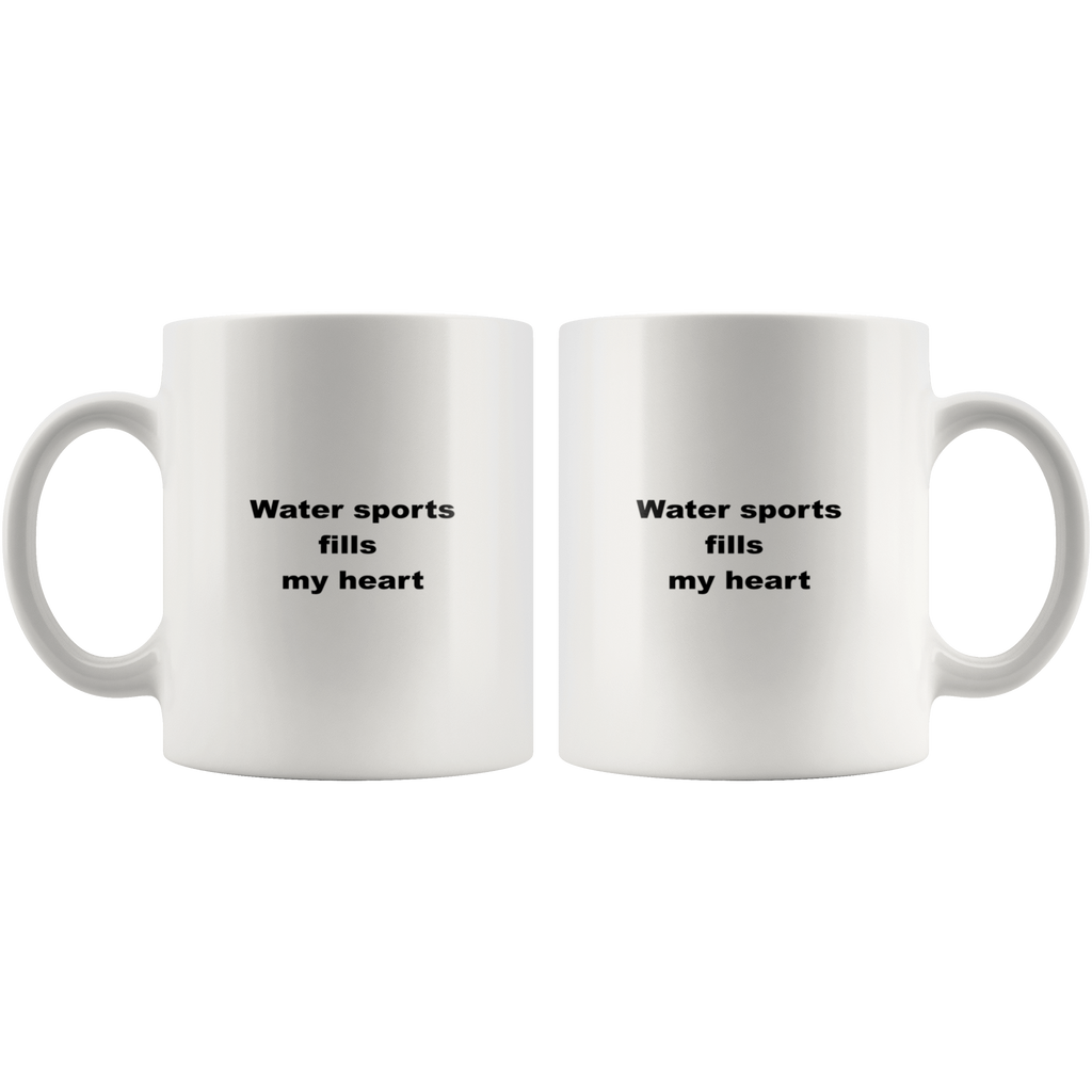 teelaunch 11oz White Mug awfw Water Sports Coffee Tea Mug White 11 oz