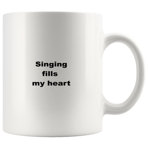 teelaunch 11oz White Mug awfwf Singing Coffee Tea Mug White 11 oz