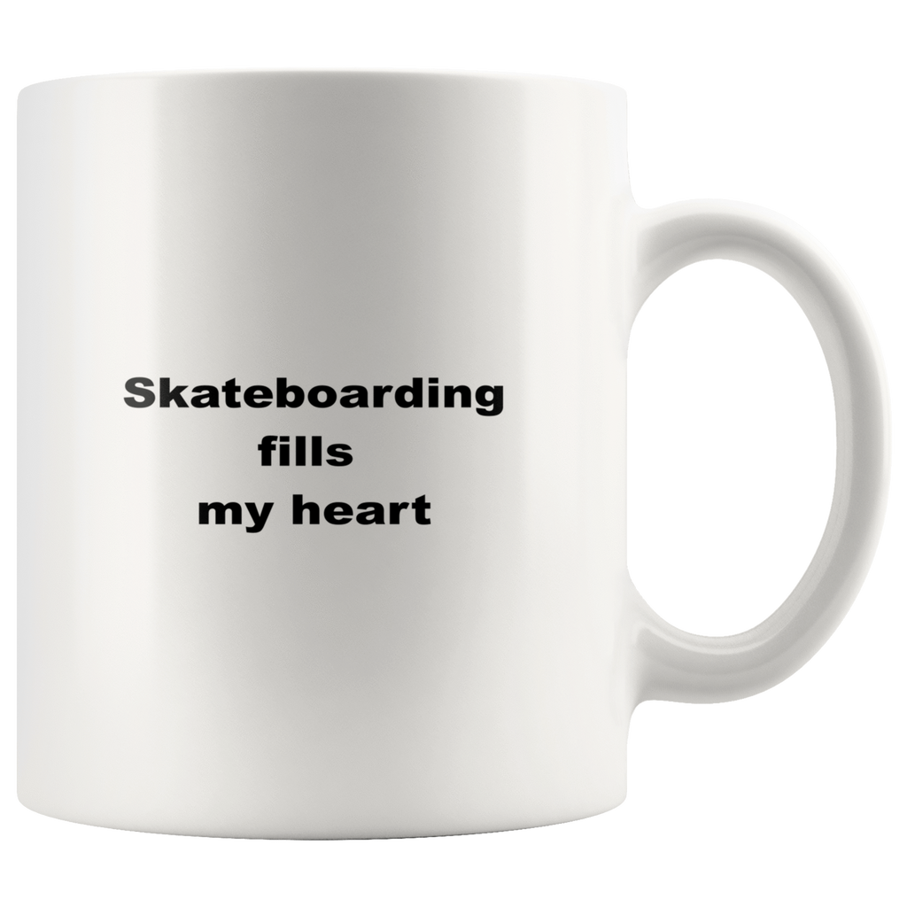 teelaunch 11oz White Mug awfwf Skateboarding Coffee Tea Mug White 11 oz