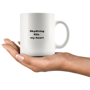 Skydiving Coffee Tea Mug White 11 oz