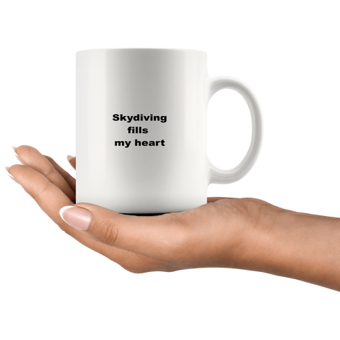 teelaunch 11oz White Mug awfwf Skydiving Coffee Tea Mug White 11 oz