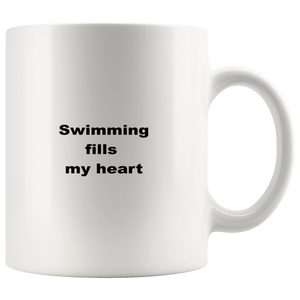 teelaunch 11oz White Mug awswf Swimming Coffee Tea Mug White 11 oz