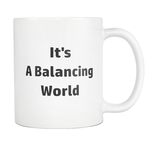 teelaunch 11oz White Mug Balancing Life Accountant Balancing World Coffee Tea Mug White 11 oz
