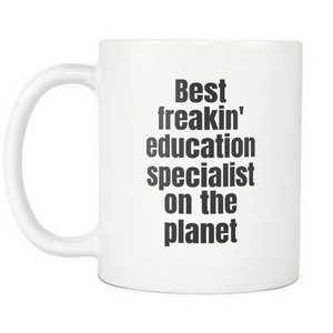 Education Specialist Best On The Planet Coffee Tea Mug White 11 oz
