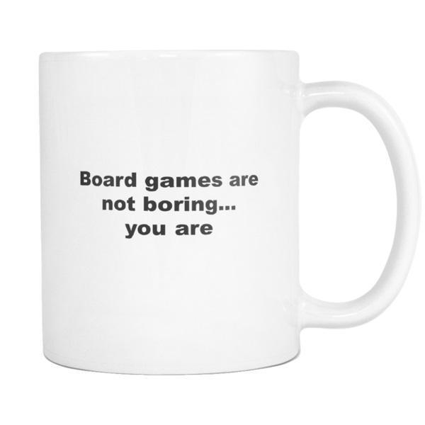 teelaunch 11oz White Mug Board games Board Game Not Boring Strategy Coffee Tea Mug White 11 oz