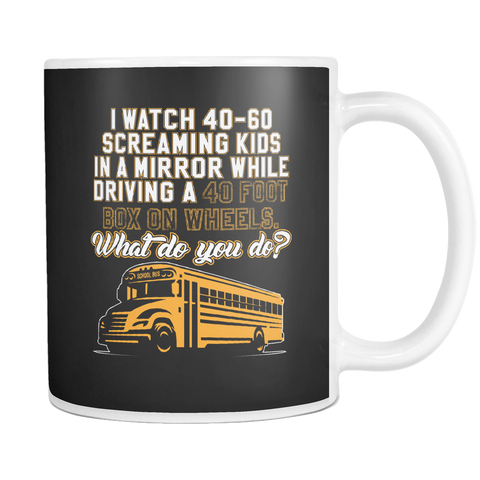 teelaunch 11oz White Mug BusDriver(White) Bus Driver Coffee Tea Mug White 11 oz