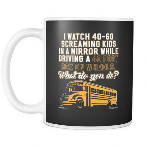 Image of teelaunch 11oz White Mug BusDriver(White) Bus Driver Coffee Tea Mug White 11 oz
