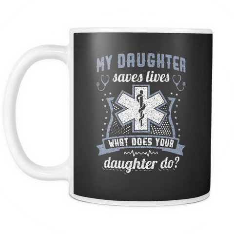 teelaunch 11oz White Mug Daughtersaveslives(White) Daughter Saves Lives Coffee Tea Mug White 11 oz